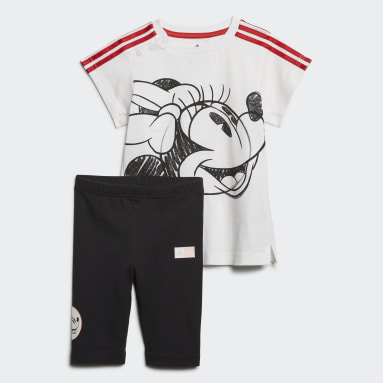 Conjunto de Verano Minnie Mouse Blanco Niña Training