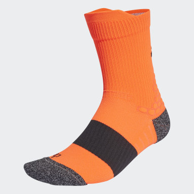 Running Orange Running Ultralight Crew Performance Socks