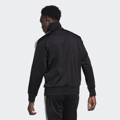 Muži Originals černá Sportovní bunda Adicolor Classics Firebird