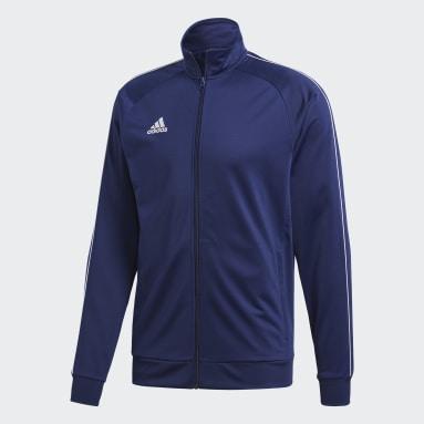 Männer Fitness & Training Core 18 Jacke Blau
