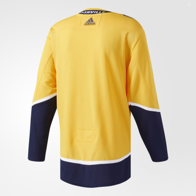 Maillot Predators Domicile Authentique Pro or Hockey