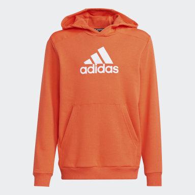 Sweat-shirt à capuche Logo Orange Garçons Fitness Et Training