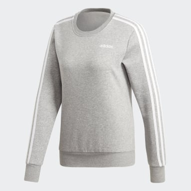 Women's Essentials Grey Essentials 3-Stripes Sweatshirt