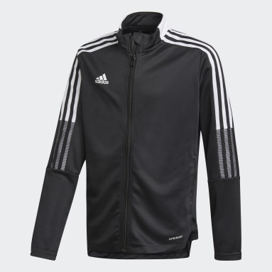 Kids Football Black Tiro 21 Track Jacket