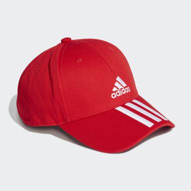 Gorra Béisbol 3 Rayas Sarga (UNISEX) Rojo Training
