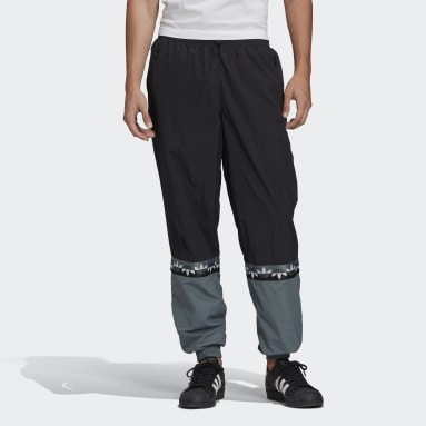 Men's Originals Black Adicolor Sliced Trefoil Track Pants