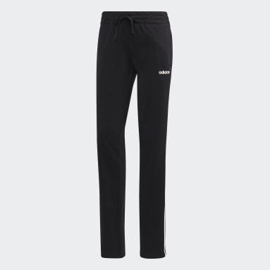 Pantalon droit en maille Essentials noir Femmes Essentials