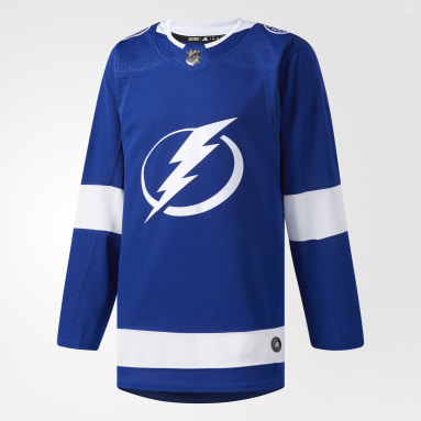Men's Hockey Blue Lightning Home Authentic Pro Jersey
