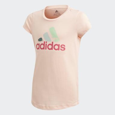 Camiseta Estampada Rosa Meninas Training
