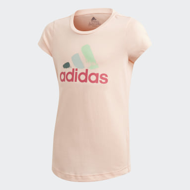 T-shirt Graphic Rose Filles Fitness Et Training