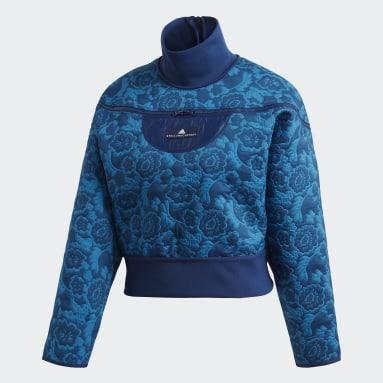 синий Куртка для бега Sweater