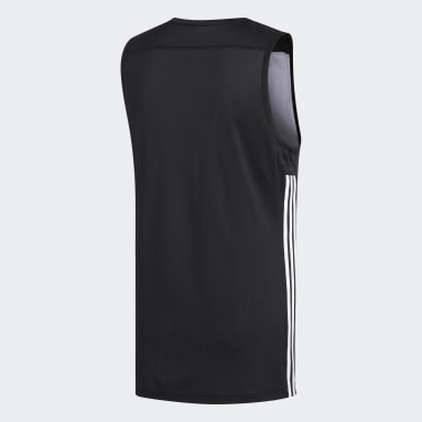 Heren Basketbal Zwart 3G Speed Reversible Shirt