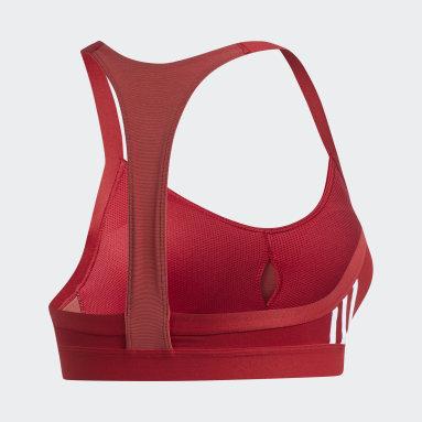 Brassière All Me 3-Stripes Bordeaux Femmes Fitness Et Training