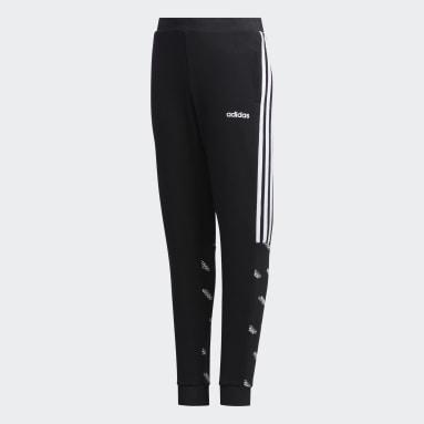 Pants Core Favorites Negro Niño Diseño Deportivo