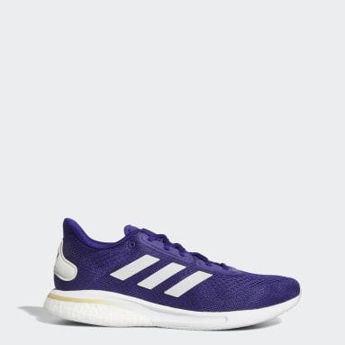 Running Purple Huskies Supernova Shoes