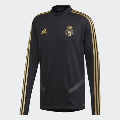 Men Football Black Real Madrid Training Top