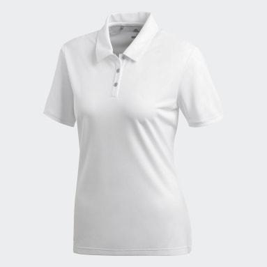 Women Golf White Tournament Polo Shirt