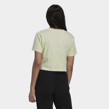 T-shirt Tennis Luxe Cropped Giallo Donna Originals