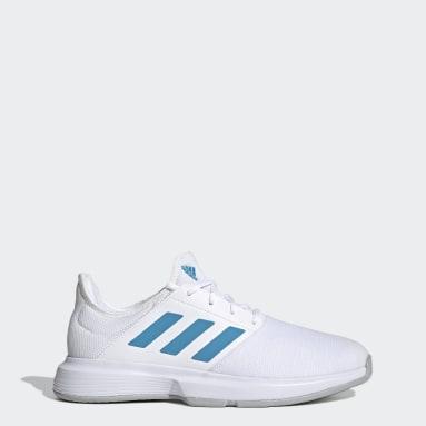 Men Tennis White GameCourt Tennis Shoes