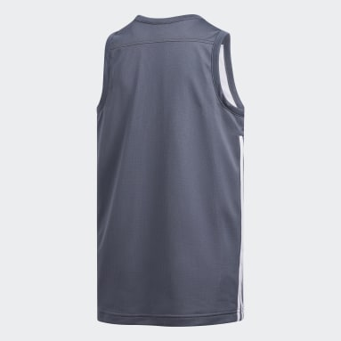 Kinderen Basketbal Zwart 3G Speed Reversible Shirt