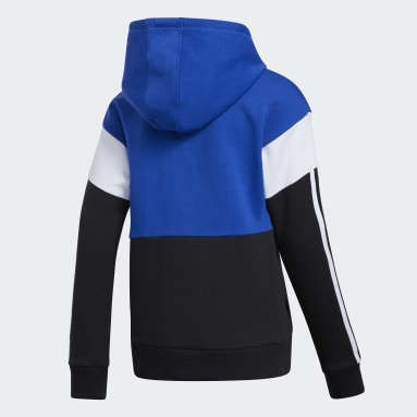 Youth Training Blue Core Colorblock Hoodie