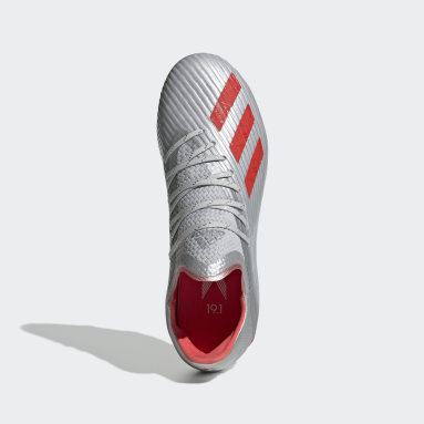 Děti Fotbal stříbrná Kopačky X 19.1 Firm Ground
