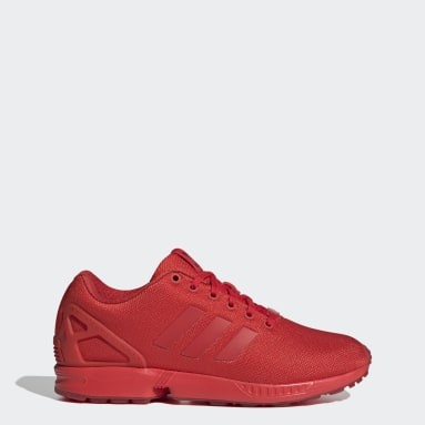Men Originals Red ZX Flux Shoes