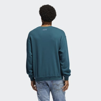 Männer Originals Embroidered Sweatshirt Türkis