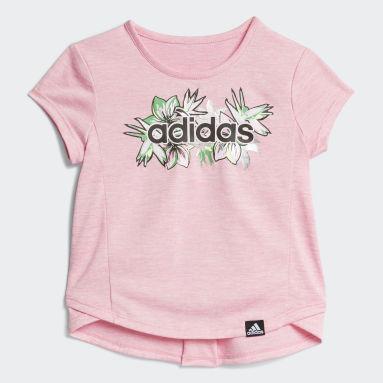 Infant & Toddler Training Pink FLORAL CAPRI TIGHT SET