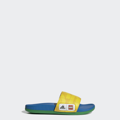 Children Yoga Yellow adidas Adilette Comfort x LEGO® Kids Slides
