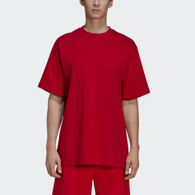 Heren Y-3 Rood Y-3 Classic Offset Logo T-shirt