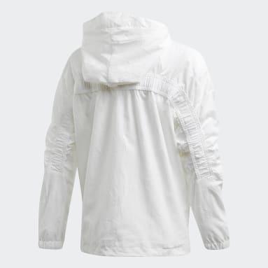 Mädchen Sportswear adidas W.N.D. Primeblue Jacke Weiß