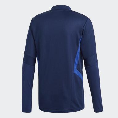 Haut d'entraînement Tiro 19 Bleu Hommes Fitness Et Training