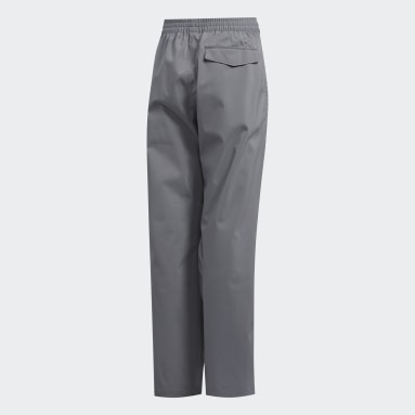 Youth 8-16 Years Golf Grey Provisional Rain Tracksuit Bottoms