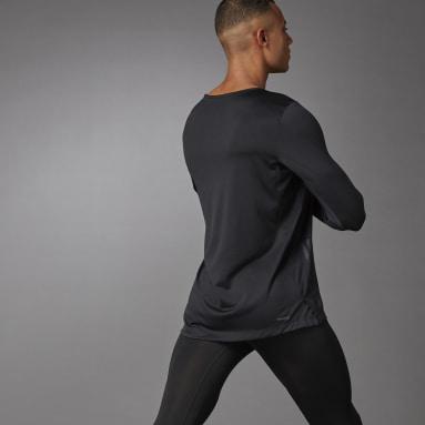 Men's Training Black AEROREADY 3-Stripes Flow Primeblue Long Sleeve Tee
