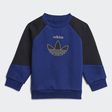 adidas SPRT Collection Crew Set Niebieski