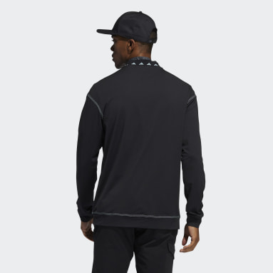 Men Golf Black Equipment Wind Crew Shirt