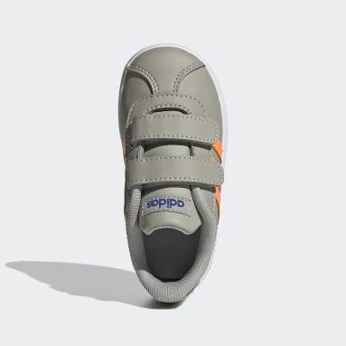 Chaussure VL Court2.0 Gris Enfants Marche