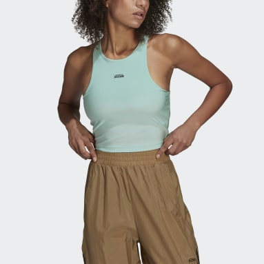 Women Originals Green Sports Bra Long-Sleeve Top