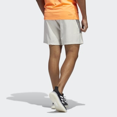 Herr Gym & Träning Beige AEROREADY 3-Stripes Slim Shorts