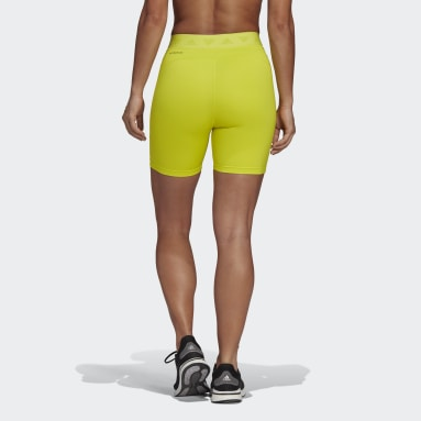 Pantalón corto Speed Creation Amarillo Mujer Running