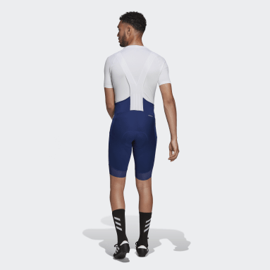 Männer Radfahren The Padded Cycling Trägershorts Blau