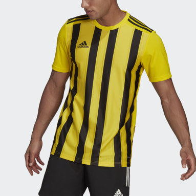 Men Football Yellow Striped 21 Jersey