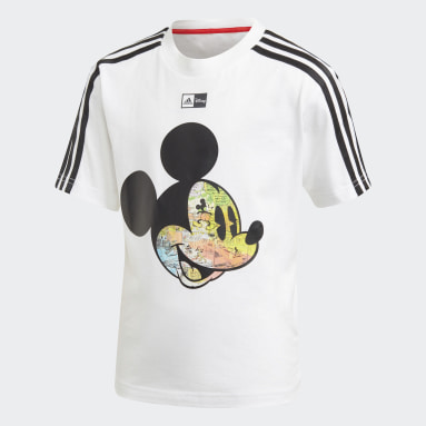 T-shirt Disney Mickey Mouse Blanc Garçons Fitness Et Training