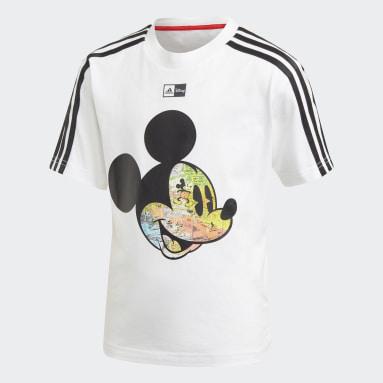 T-shirt Mickey Mouse Disney Branco Rapazes Ginásio E Treino