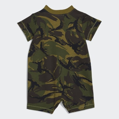 Infant & Toddler Training Black Short Cotton Print Rompers