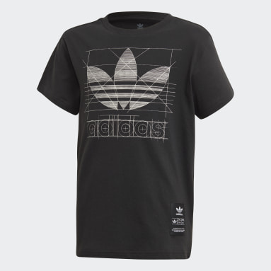 Youth 8-16 Years Originals Black Graphic T-Shirt
