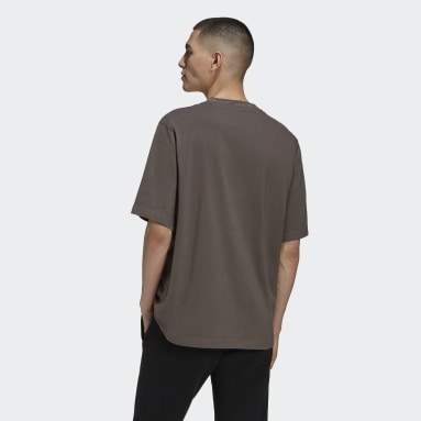 Men Originals Brown Rib Detail Tee