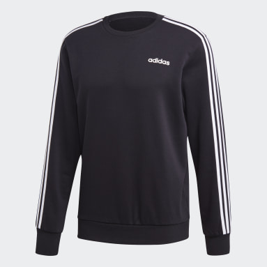 Buzo Essentials 3 Tiras Negro Hombre Sportswear