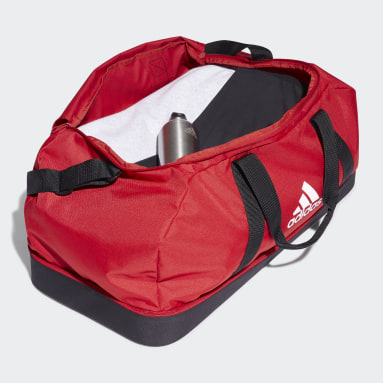Football Red Tiro Primegreen Bottom Compartment Duffel Bag Large